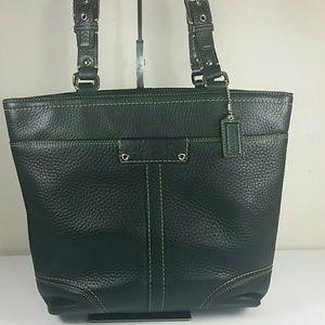 Coach Leather Hamilton Bucket Black Bag